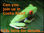 Join Us in Costa Rica. Click Here for More Details!