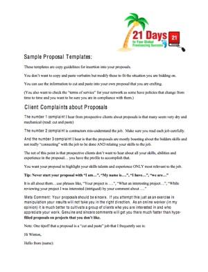 proposals templates